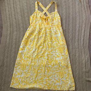⭐️3/$25⭐️ like new yellow women's Hawaiian dress
